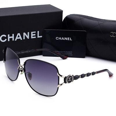 Sunglasses Polarized¹Chanel Black Frame Double Gray Chip Lens