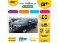 Grey Ford Ranger 2.2TDCi 4x4 Double Cab Limited 2 FROM £57 PER WEEK!
