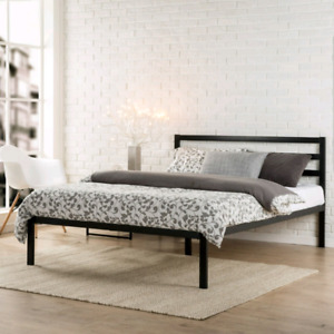 Brand New Sealed King Size Platform bed And Gel Memory Foam Matt