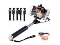 luxury selfie stick monopod for iPhone samsung mobile phones