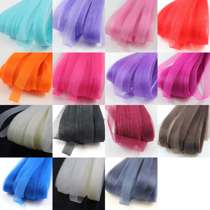 21metres CRINOLINE FLEXIBLE SINAMAY HORSEHAIR BRAID WEDDING FASCINATOR 8cm WIDE