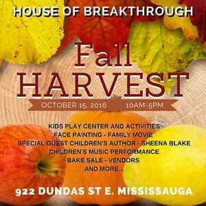 Fall Harvest - Raising the Roof - VENDORS WANTED