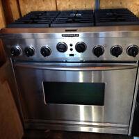 cuisinière 36'' au gaz propane ou naturel
