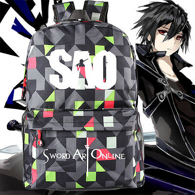 Anime Sword Art Online School Backpack Bag Cosplay Kirito Unisex Shoulder Bag