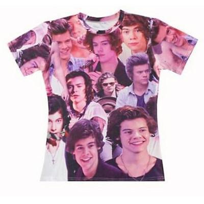 Harry Styles One Direction 1D Where We Are Tour Women Men 3D T Shirt Top Tee Hot