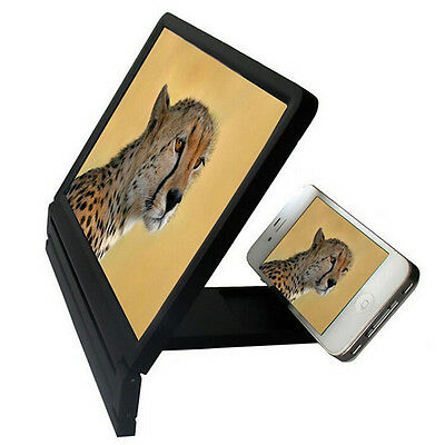Portable Fold 3D Mobile Phone Screen Enlarge Magnifier Stand For iphone<Samsung Samsung 3d-mobile