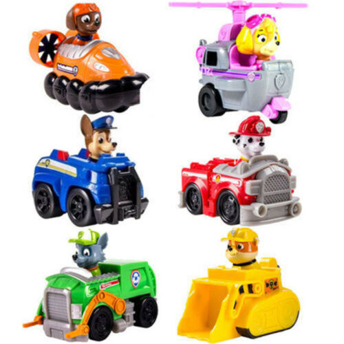 6PCS/Sets HOT Kids PAW PATROL Toy Skye patrol Racer Pups XMAS GIFT Toys Doll NEW