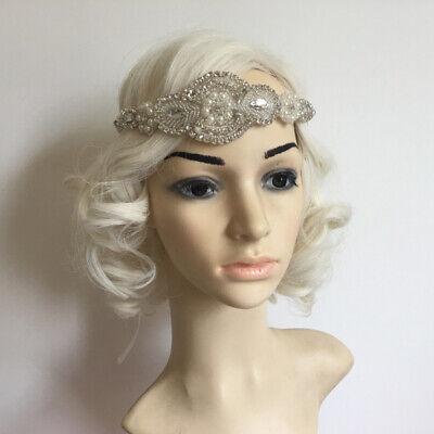 GREAT GATSBY ART DECO 1920s FLAPPER CRYSTAL PEARL HEADBAND WEDDING HEADWEAR](Great Gatsby Headwear)