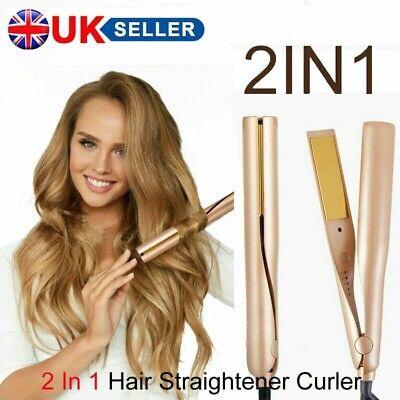 2 IN 1 MESTAR IRON PRO Dual-purpose Salon Hair Straightener & Curler UK Plug