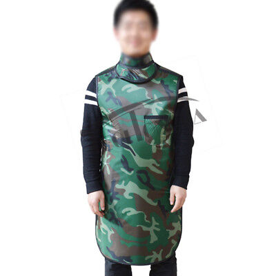 L Size Camouflage X-ray Protection Apron 0.35mmpb Collar As Gift New Arrival