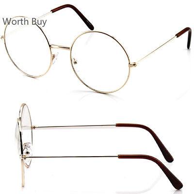 Hippies Glasses (John Lennon Round Retro Metal Frame Clear Lens Eye Glasses Fashion Hippies)