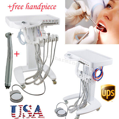 Usa Dental Delivery Unit Mobile Handpiece Cart Standard Trolley 4 Hole Warranty
