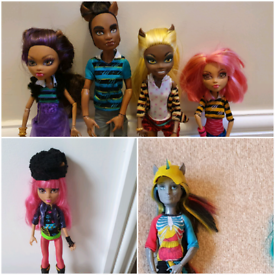 Monster high doll x5 Rare dolls some with diaries excellent condition.