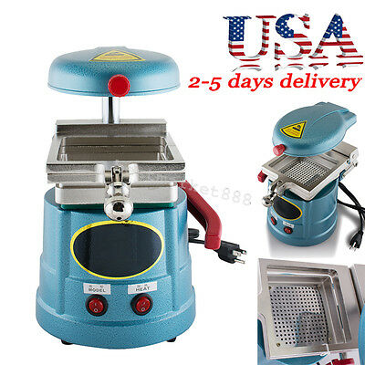 Dental Vacuum Forming Molding Machine Heavy-duty Motor Heat Thermoforming -blue