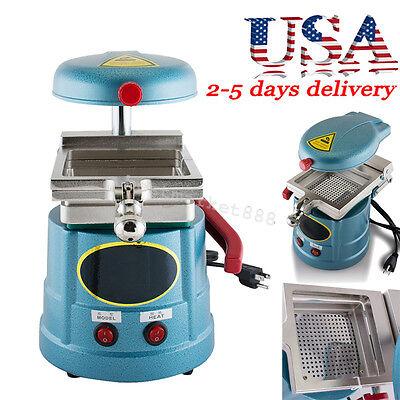 Dental Vacuum Forming Molding Machine Heavy-duty Motor Heat Thermoforming -blue