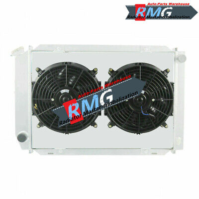 2Row Aluminum Radiator For 1979-1993 Ford Mustang +Shroud&Fans Manual Only