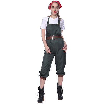 WW2 1940s Army Land Girls World War II Cosplay Wartime Costume Fancy Dress](Ww2 Fancy Dress Costumes)