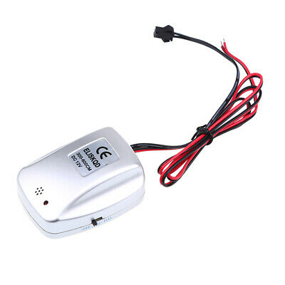 El Wire Sound Activated (DC 12V Portable Sound Activated EL Wire Driver Powers Adapter 30)