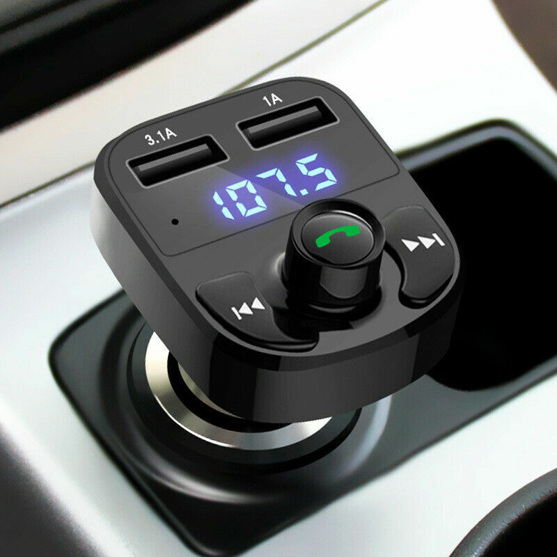 In Car Bluetooth FM Transmitter Radio MP3 Wireless Adapter Car Kit USB Charger 2 Consumer Electronics