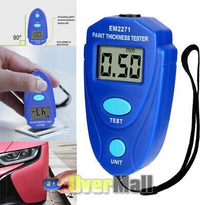 Digital Vehicle Painting Thickness Meter Lcd Car Paint Coating Measuring Gauge