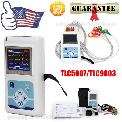 2018 Portable 3-channel 24h Ecg Holter Analyzer System Recorder Monitorsoftware
