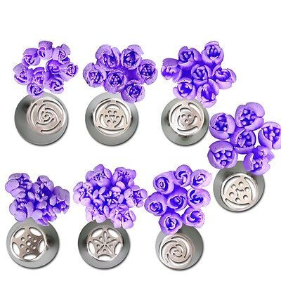 1x Cake Flower Decor Icing Piping Nozzles Pastry Baking Tool Stainless Steel CA