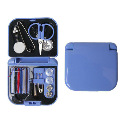 Travel Sewing Kit Thread Needles Mini Case Plastic Scissors Tape Pins Set (Best Travel Scissors)
