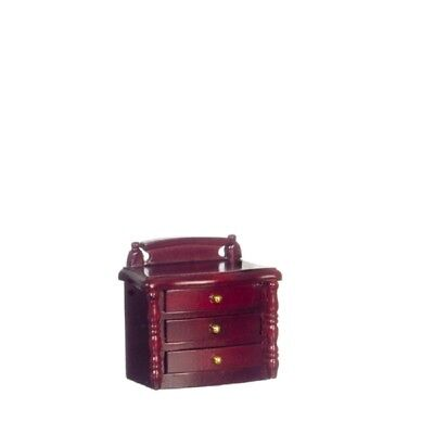 Dollhouse Miniature Night Stand in Mahogany