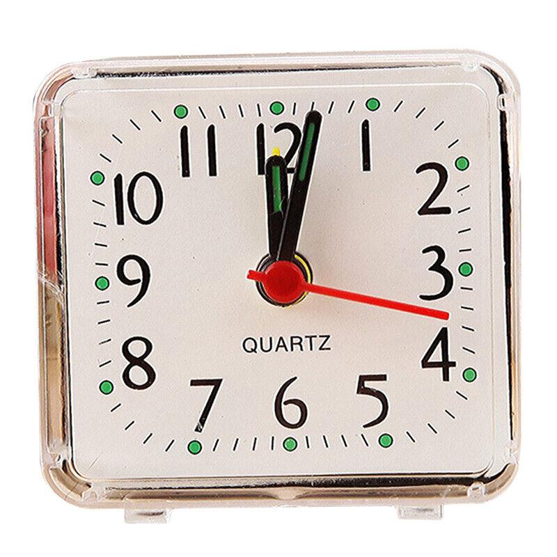 Home Mini Quartz Bedside Desk Table Snooze Clock Battery Operated Alarm Clocks Alarm Clocks & Clock Radios
