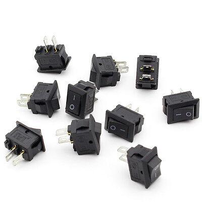 Schwarz Rocker Switch (10 PCS Rocker Switch Wippschalter Schalter SPST-2PIN  Schwarz Verkauf Neu)