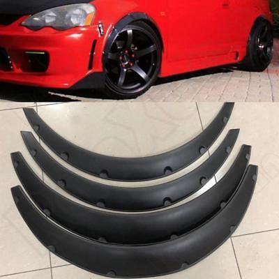Acura Legend Body Kits - 4 Piece Universal Car Tires Fender Flares Flexible Durable Polyurethane Body Kit