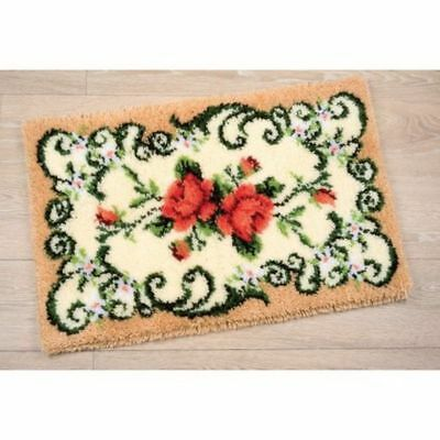 Knüpfteppich Blumenmotiv mit Garn 75x45 cm Vervaco KKPN0021857