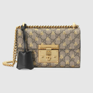 Brand New Authentic Gucci Padlock small GG bees shoulder bag