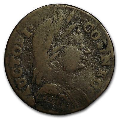 1785 Connecticut Copper Cent M3 2 L R 4 Vg