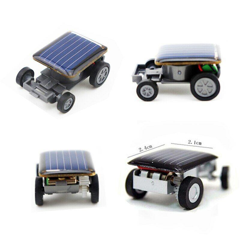 creative mini solar powered car model sunlight