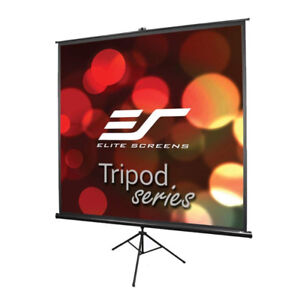 Elite Screens Tripod, 85-inch, Adjustable Multi Aspect Ratio Por