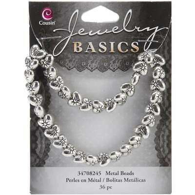 Jewelry Basics Metal Beads 9mm 36/Pkg Silver Puffed Heart 016321048744 9 Mm Puffed Heart