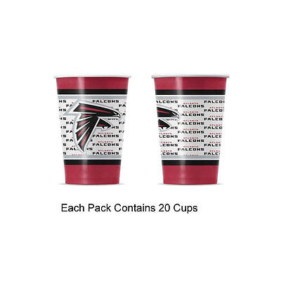 New 20pc NFL Disposable Party Supplies Paper Cup Cups Atlanta Falcons](Party Supplies Atlanta)