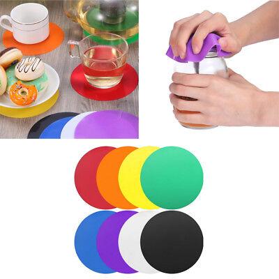 Rubber Jar Gripper Pads Round Coasters Multi-Purpose Bottle Lid -
