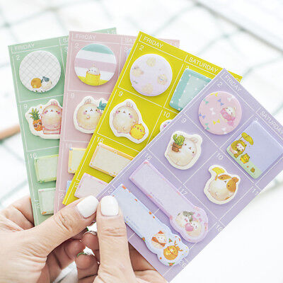 Cute Round Potato Rabbit Memo Pad Sticky Notes Planner Paper Stickers Stationery