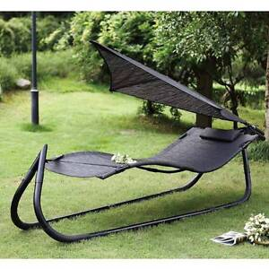 OUTDOOR PATIO HAMMOCK STAND SUN BED LOUNGE CHAIR w/ SUN SHADE Dingley Village Kingston Area Preview