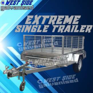 « 7x5 EXTREMEhd braked-caged-galvanized brand-new-trailer«