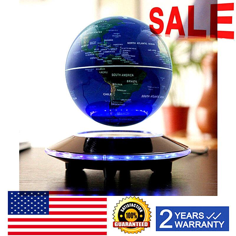 Floating Globe Magnetic Levitation Maglev Levitating World Map LED Decor Light