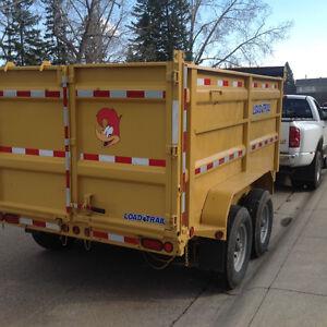 "MINI BOBCAT SERVICE ( 36"") & 12' SPLIT LOAD DUMP TRAILER Calgary Alberta image 9"