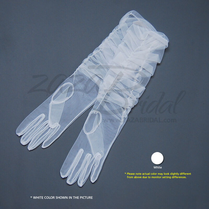 Gathered Gorgeous Sheer Gloves Adjust the Length