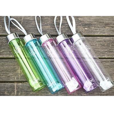 280Ml Modern Transparent Portable Bike Sports Unbreakable Plastic Water Bottle T