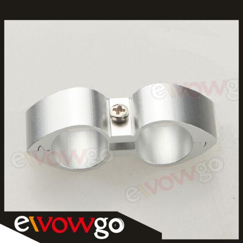 6AN AN6 ID 14.2mm Billet Fuel Hose Separator Fittings Adapter Butterfly Silver