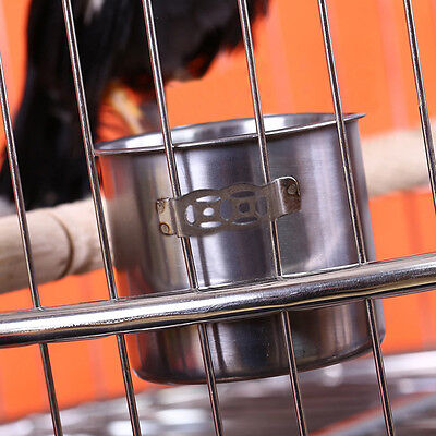 New Pet Kings Cages Stainless Steel Cup Bowl Feeder for Travel Parrot Birds Sale