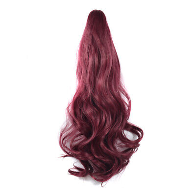 Женское наращивание волос Wine-red Thick Wavy