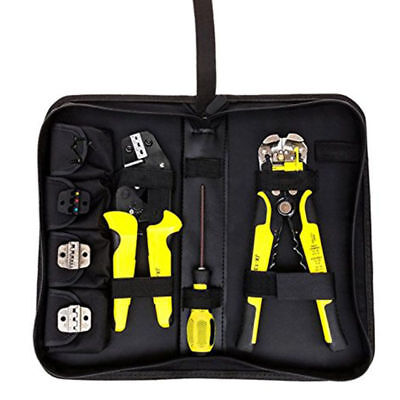 4 In 1 Crimper Ratcheting Terminal Engineering Crimping Plier Wire Stripper Tool